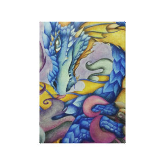 Azul Dragon Canvas Print
