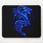 azul-dragón-negro-fuego tapetes de ratones
