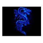azul-dragón-negro-fuego tarjetas postales