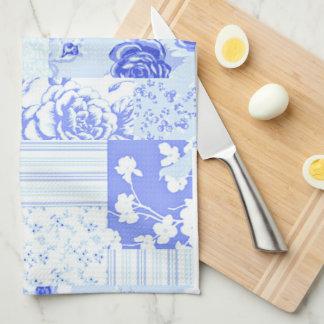 Azul dulce del Cornflower del país Toallas De Cocina