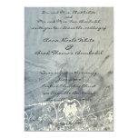 Azul e invitación elegante arrugada crema del boda invitación 12,7 x 17,8 cm