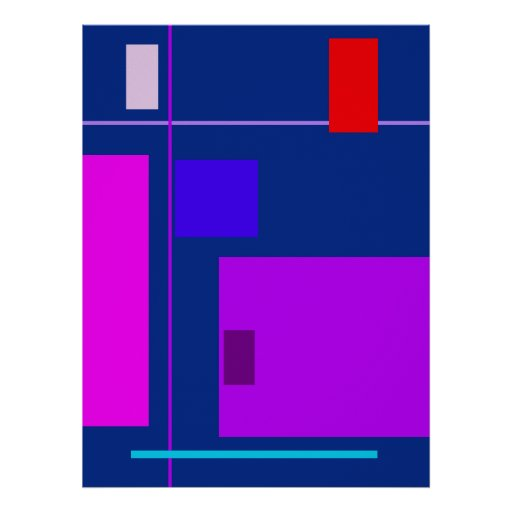 Azul egipcio de la belleza linear poster