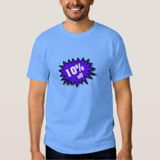 Azul el 10 por ciento apagado camisas