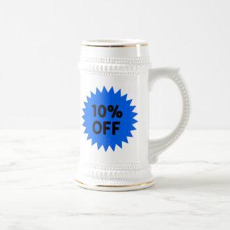 Azul el 10 por ciento apagado jarra de cerveza