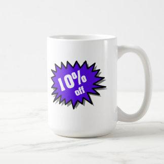 Azul el 10 por ciento apagado taza clásica