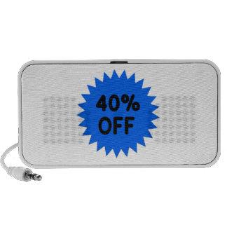 Azul el 40 por ciento apagado portátil altavoz