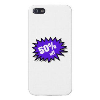 Azul el 50 por ciento apagado iPhone 5 cárcasas