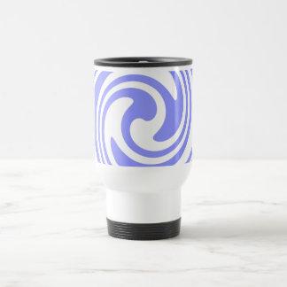 Azul, el blanco remolina náutico inspirado taza de viaje