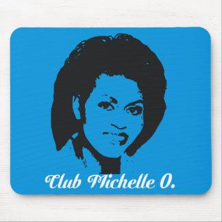 Azul eléctrico de Michelle O. Mousepad In del club