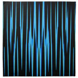 ~ AZUL ELÉCTRICO (de un diseño del arte abstracto) Servilletas Imprimidas