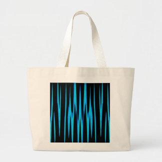 ~ AZUL ELÉCTRICO del abrigo (un diseño del arte Bolsa Tela Grande