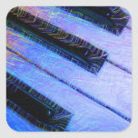 Azul eléctrico del piano calcomania cuadradas personalizadas