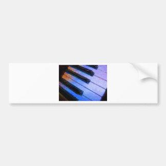 Azul eléctrico del piano pegatina para auto
