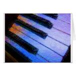Azul eléctrico del piano tarjetón