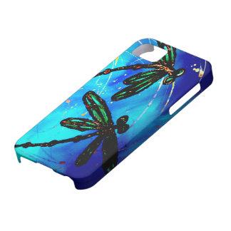 Azul eléctrico del revoloteo de la libélula
