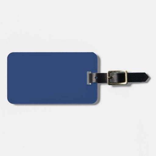 Azul eléctrico - modelo elegante del color de la m etiqueta de maleta