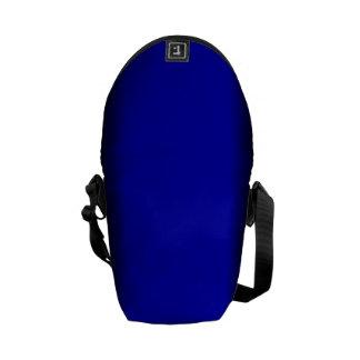 Azul eléctrico sólido bolsa messenger