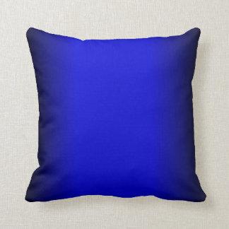 Azul eléctrico sólido almohadas