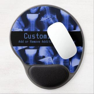 Azul electromágnetico radiografiado alfombrillas con gel