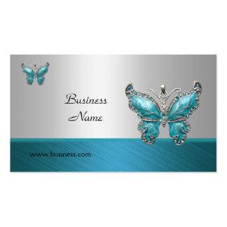 Azul elegante 2 del trullo de la mariposa de la tarjetas de visita