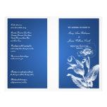 Azul elegante de la amapola del programa del boda tarjetas publicitarias