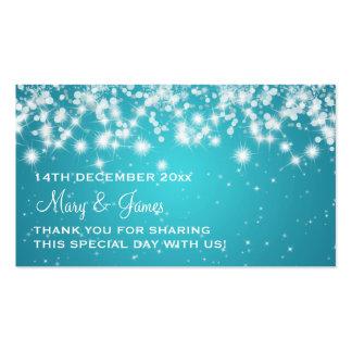 Azul elegante de la chispa del invierno de la etiq plantilla de tarjeta de negocio