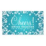 Azul elegante de la chispa del invierno del fiesta tarjeta de visita
