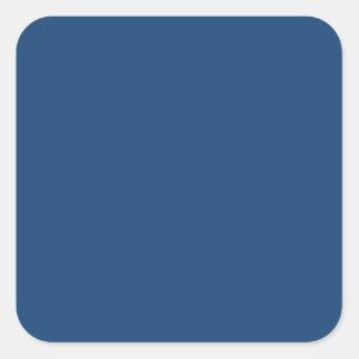 Azul elegante de Mónaco - modelo de la tendencia Pegatina Cuadrada