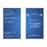 Azul elegante del monograma de los pájaros del pro flyer personalizado