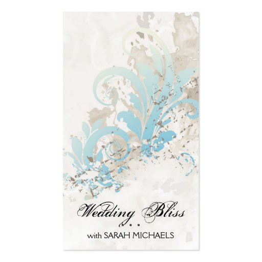 Azul elegante del vintage de la tarjeta de visita