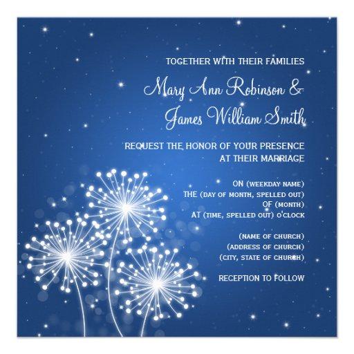 Azul elegante del zafiro de la chispa del verano d invitación personalizada