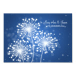 Azul elegante del zafiro de la chispa del verano invitación 12,7 x 17,8 cm