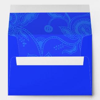 Azul elegante floral del vintage atractivo sobre