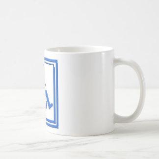Azul elegante perjudicado del símbolo tazas de café