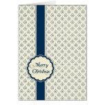 Azul elegante personalizado de la tarjeta de felic