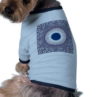 Azul elegante camiseta con mangas para perro