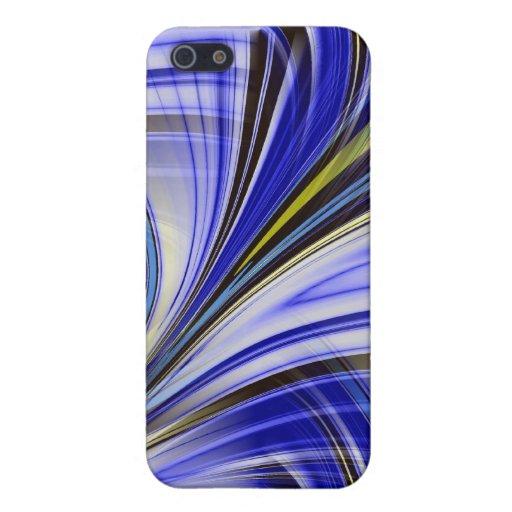 Azul emplumado iPhone 5 cárcasa