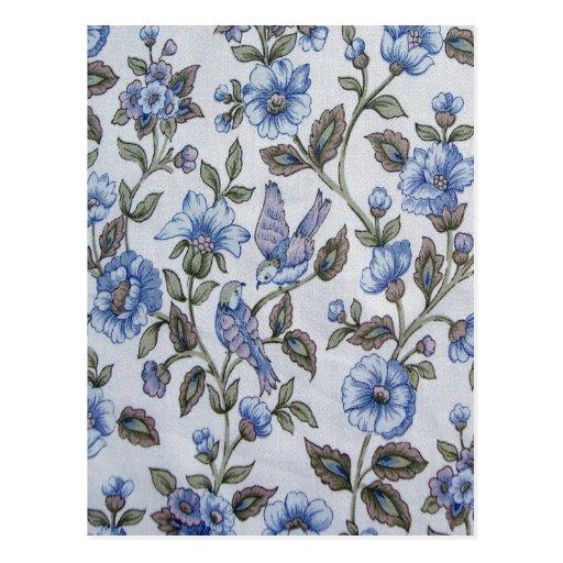 Azul en azul tarjeta postal