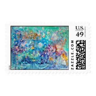 Azul en azul timbres postales