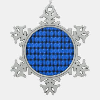 Azul en código binario negro adorno