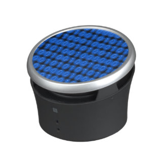 Azul en código binario negro altavoz