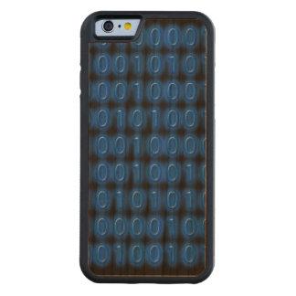 Azul en código binario negro funda de iPhone 6 bumper cerezo