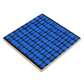 Azul en código binario negro