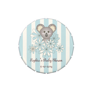 Azul en colores pastel personalizado koala linda frascos de dulces