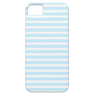 Azul en colores pastel y el blanco raya la caja iPhone 5 carcasa