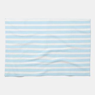 Azul en colores pastel y el blanco raya la toalla