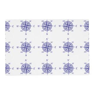 Azul en el modelo costero blanco del rosa de tapete individual