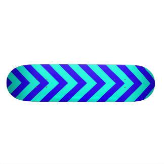 Azul en el monopatín del modelo de la turquesa V Patín Personalizado
