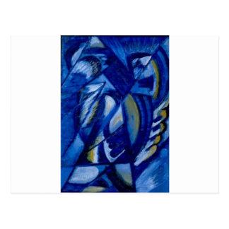 Azul en la lata de Olga Rozanova Postal