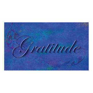 Azul en tarjeta azul de la afirmación de la tarjetas de visita